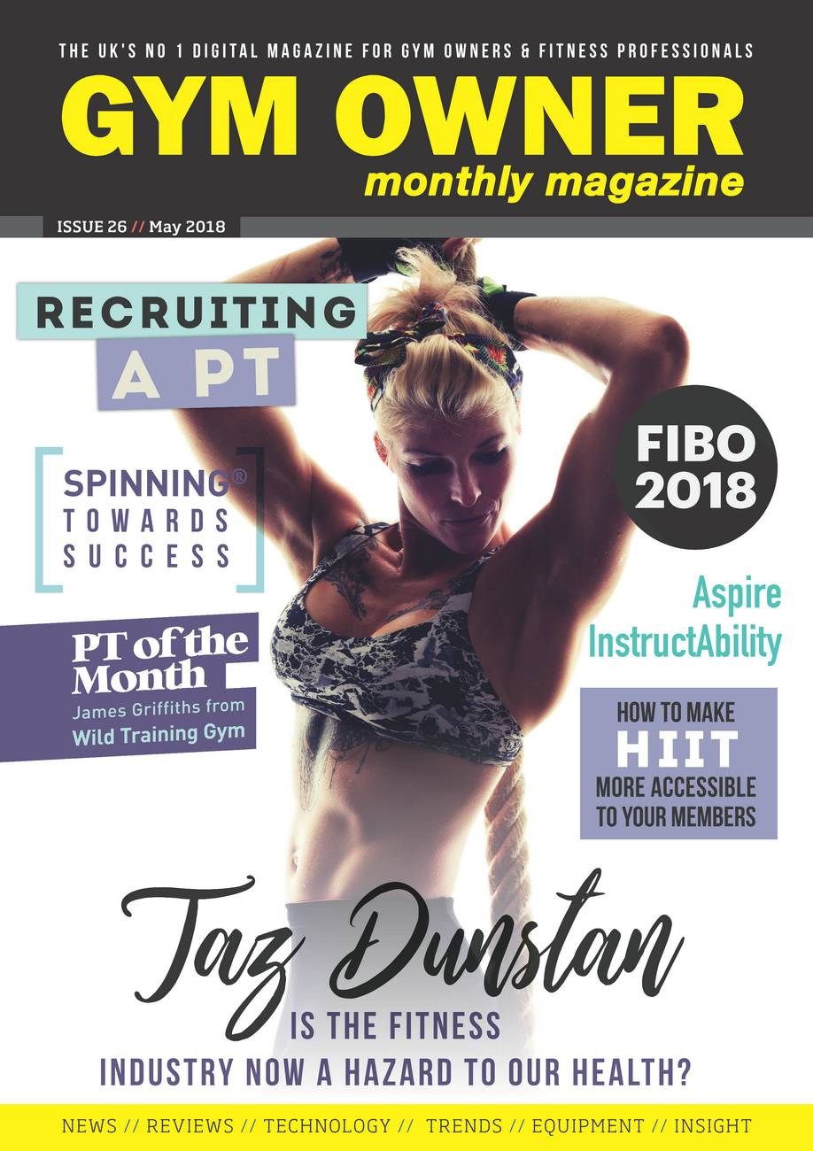Gym Only Monthly, May 2018, Feature by Taz Dunstan